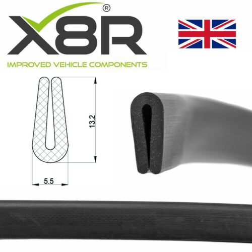 Black Flexible Rubber U Channel Edging Edge Seal Car Trim 1mm 2mm Material Kit