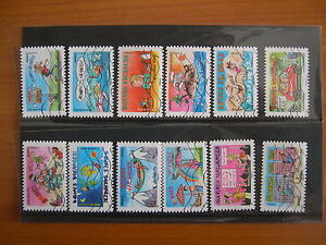 Serie-complete-vacances-2015-YT-1140-a-1151-12-timbres