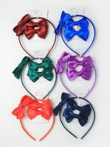 Bow-Headband-and-Bow-Hair-Clips-Set-Girls-Hair-Accessories-School-Hair-Bands
