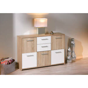 Commode-buffet-bahut-meuble-de-rangement-bureau-cuisine-salon-sejour-CHENE-BLANC