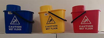 Cubo fregona 15L Profesional Con Precaución Señal de suelo mojado Escurridor Color Codificado