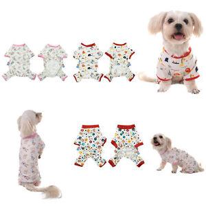 Small-Pet-Dog-Puppy-Cat-Jumpsuit-Pajamas-T-Shirt-Clothes-Sleepwear-Apparel-XS-L
