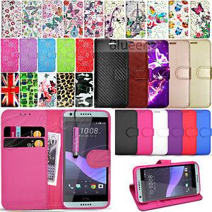 Para-HTC-Desire-650-626-Billetera-Cuero-Estuche-Con-Tapa-Libro-protector-de-pantalla