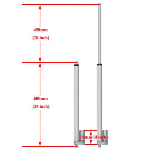 2 Dual DC 12V Electric Linear Actuator W// Wireless Motor Controller Brackets Set