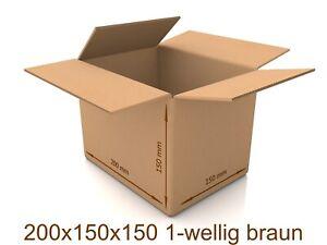 100x Karton 250x175x100 Versandkarton Verpackungen Schachtel Versand Päckchen