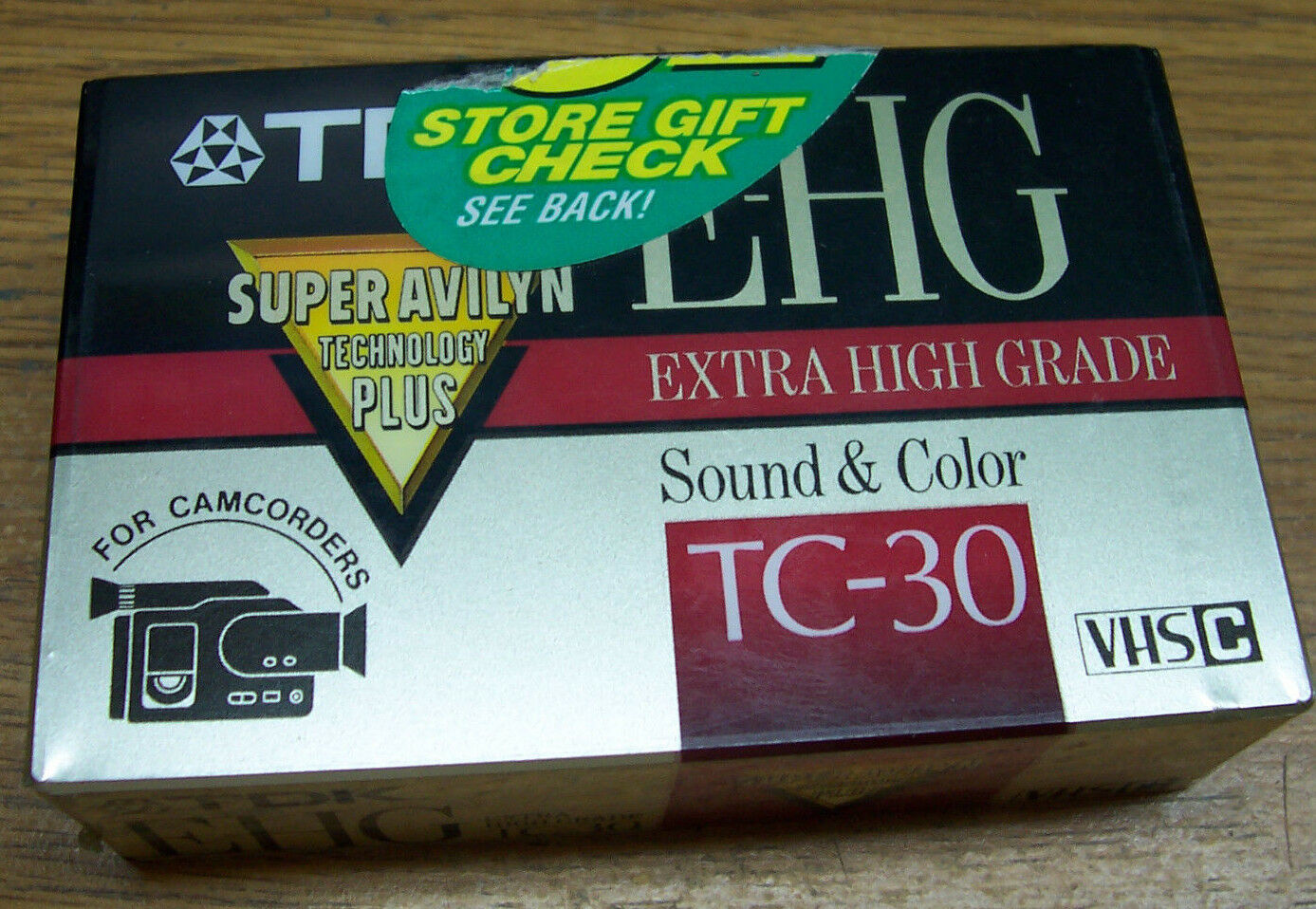 1-TDK TC-30/E-HG/VHS-C video Tape Super Avilyn Technology Camcorder Lot# A69