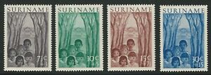 Surinam-1954-Scott-B58-B61-Complete-Set-Mint-Never-Hinged