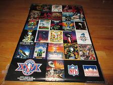 SUPER BOWL XXVI WASHINGTON REDSKINS v BUFFALO BILLS Poster MARK RYPIEN Covers