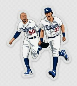 Mookie Betts Cody Bellinger STICKER - MLB Baseball LA VINYL Los Angeles Dodgers