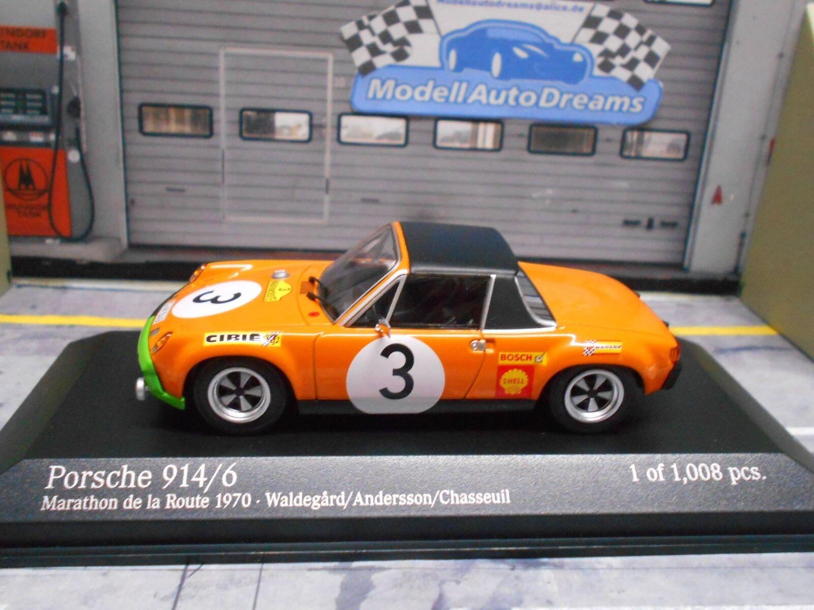 Porsche 914 6 914 6 Rallye Marathon Route 1970  3 WALDEGARD SP MINICHAMPS 1 43
