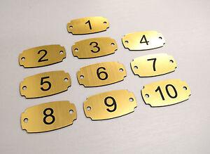 Set of 10 Laser Engraved Number Tags, Table, Locker, Pub, Restaurant, Hotel