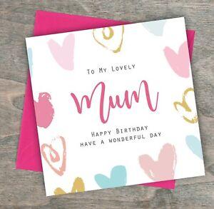 Image Is Loading Personalised Handmade Birthday Card Mum Mummy Grandma Friend
