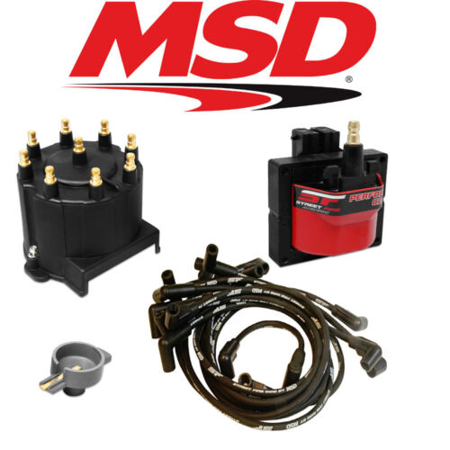 MSD Streetfire Tuneup Kit 1988-92 Camaro//Caprice V8 5.0//5.7 Cap//Rotor//Coil//Wires