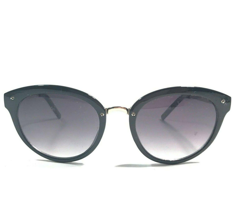 Betsey Johnson Sunglasses Black Gold Full Rim Cat Eye Frames With Purple Lenses