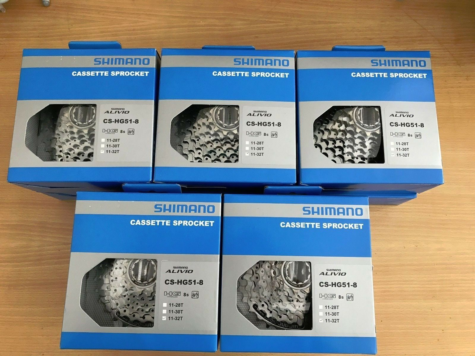 LOT DE 10 CASSETTES SHIMANO ALIVIO HG51 1132T