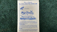 Lionel 3540 Operating Radar Car Instructions Photocopy