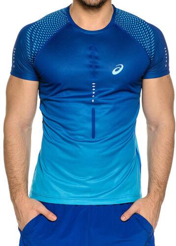 Asics Short Sleeve Mens Running Top Blue