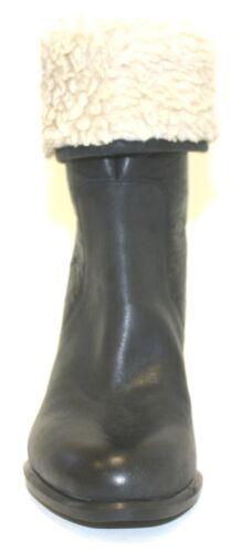 Women/'s TOMMY HILFIGER katelynn Corto Stivali in finta pelliccia cerniera posteriore in pelle nera US 7