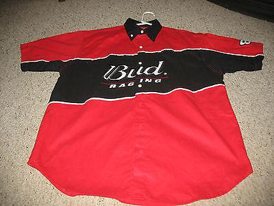 Red Used Men's L Winner's Circle Bud Racing Dale Jr White #8 Black Shirt