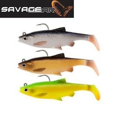 NEW SAVAGE GEAR 3D BLEAK WHITE SILVER PADDLE TAIL DROPSHOT LRF FISHING LURE 8cm
