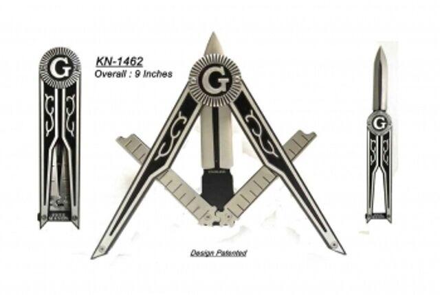 NEW Masonic Folding Pocket Knife - Square and Compass Shape Unique Freemason