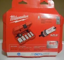 Milwaukee 8 Piece Bi Metal Hole Saw Kit 49-22-4005 A Great Gift !!  Nice Kit !