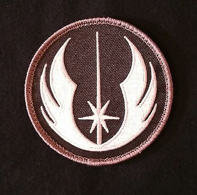 JEDI ORDER STAR WARS LOGO USA MILITARY TACTICAL ARMY MORALE SWAT HOOK PATCH