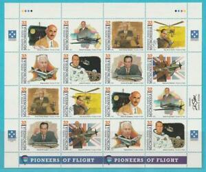 Micronésie De 1995 ** Cachet Minr. 406-413 2 Fois 8er Bloc Aviation-afficher Le Titre D'origine Effet éVident