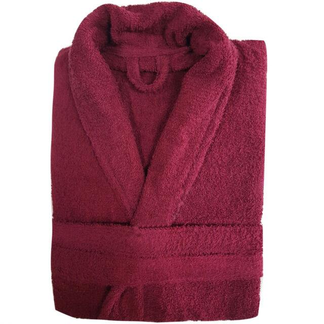 100 Cotton Ladies Bathrobe Mens Bath Robe Women Terry Towelling ...