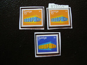 Suede-Stamp-Yvert-and-Tellier-N-615-615a-616-N-A22-Stamp-Sweden