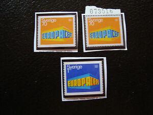 Suede-Briefmarke-Yvert-Und-Tellier-N-615-615a-616-N-A22-Briefmarke-Sweden