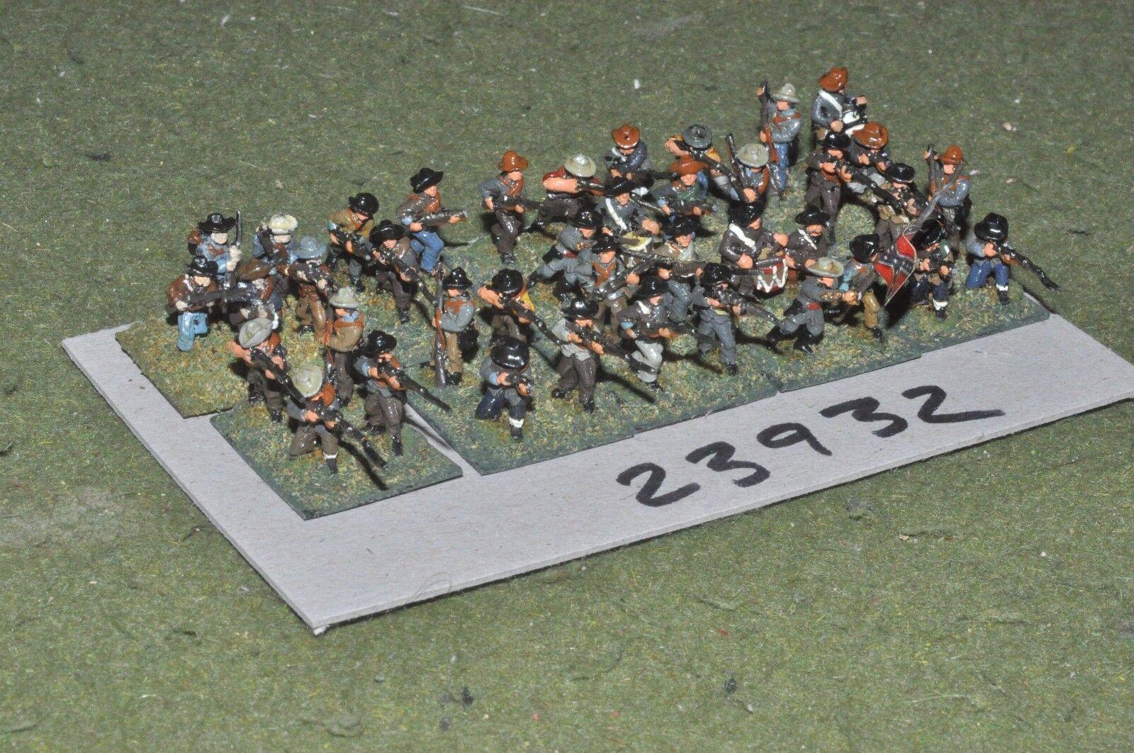 15mm ACW   confederate - regiment 39 figures - inf (23932)