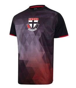 Afl St Kilda Saints Mens Tech T Shirt Tee 2016 2017 Sizes 3xl Ebay