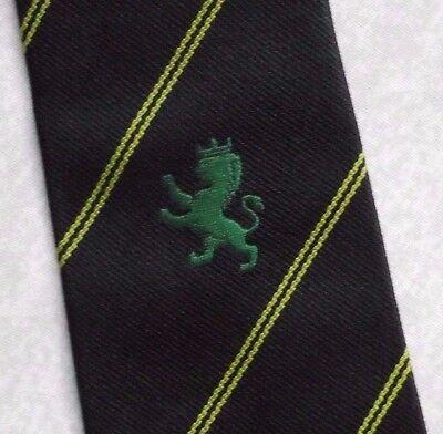 Vintage Cravatta Da Uomo Cravatta Crested Club Associazione Società Leone Verde-mostra Il Titolo Originale Una Grande Varietà Di Merci