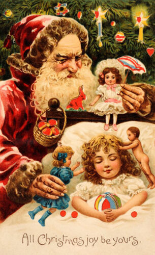 "Creepy Santa Vintage Poster 11.5x19/"" Photo Print"