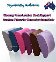 Car Seat Lumbar Back Support Cushion Memory Foam Pillow Home Office Multi Color