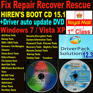 Details zu Repair Diagnose PC Restore Recover Automatic Driver Update  Windows 7 Vista XP