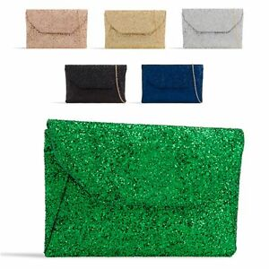 Ladies-Glitter-Envelope-Clutch-Bag-Glittery-Evening-Bag-Party-Handbag-KL2376