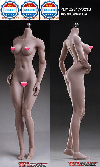 1 6 Phicen S23B Hembra músculo sin costuras bronceado figura Cuerpo M Busto Tbleague Usa