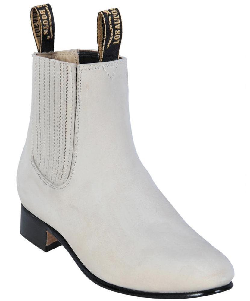 Men's Los Altos WINTER WINTER WINTER bianca Charro Ankle Nubuck Suede stivali Leather Outsole D 5c2da1