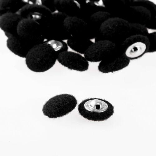 50Pcs 10//15MM Fabric Metal Shank Buttons Buckle for Suit Windbreaker Coat Blouse