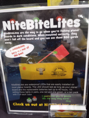 ONE 10 PACK OF NiteBiteLites  RED AND GREEN PLANER BOARD LIGHTS OFF SHORE CHURCH