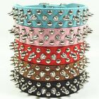 New Spiked Studded Rivets PU Leather Dog Pet Puppy Collars XS/S/M/L