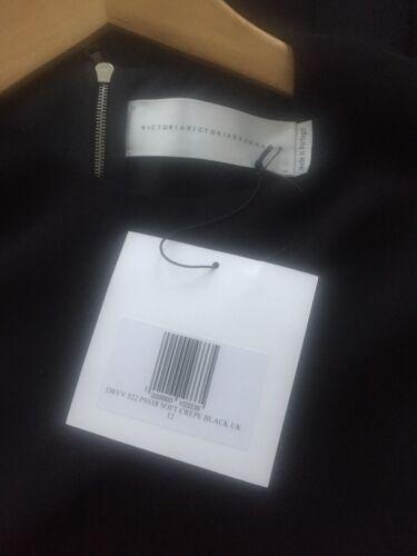 Black Beckham Shift Victoria Hem Hemeat 12 Uk Vestibilità 8qHnFf