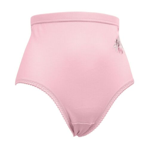 Ladies Full Mama Briefs Underwear Knickers with Pretty Embroidery All Sizes