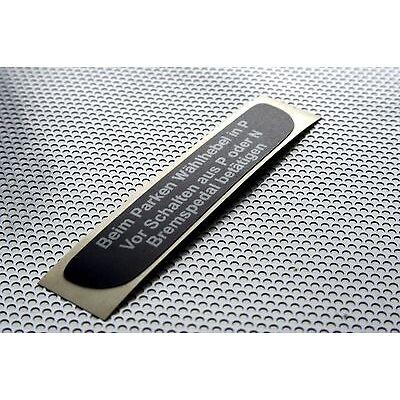 Aufkleber Automatik -  Schaltkulisse Mercedes W124 W126 W140 R129 W201 W202