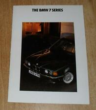 BMW 7 Series Brochure 1991 - 730I 735I SE 735IL E32