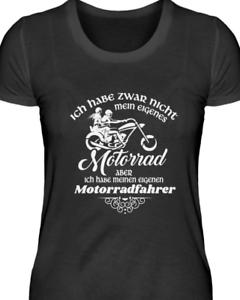Damen T Shirt Motorrad habe aber mein Motorradfahrer Geschenk Freundin Schwester