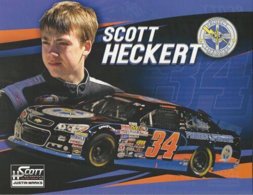 "2015 SCOTT HECKERT /""PROJECT LIFESAVER H SCOTT #34 NASCAR K/&N PRO SERIES POSTCARD"