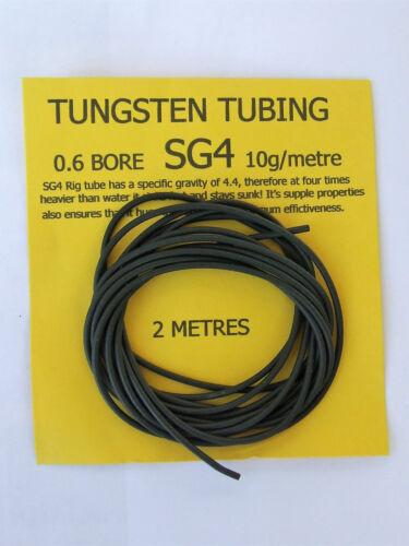 Carp Coarse Fishing 10g//mtr 2 Mtrs Tungsten Tubing SG4 0.6 bore
